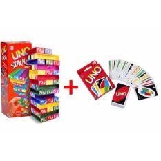 Uno Stacko Set Dengan Kartu