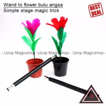 Wand To Flower Bulu Angsa (Alat sulap, mainan)