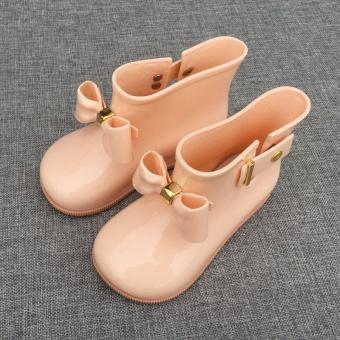 Warna lucu Four Seasons siswa karet sepatu sepatu anak-anak hujan sepatu