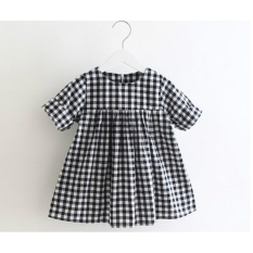 Winter Cassic Black And White Plaid Dress Tutu Baby Girl Size 90 - intl
