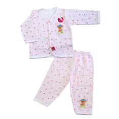 Womas Setelan Baju Bayi SWE017 Newborn Motif Garis - Pink