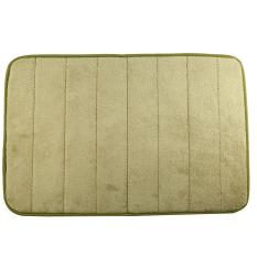 40 X 60cm Coral Velvet Bathroom Mat Non-slip Memory Foam Rug Soft Floor Carpet (Army Green)