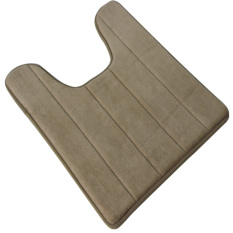 40 X 60cm U Shape High Density Anti-slip Bathroom Toilet Pedestal Rug Carpet Floor Mat Khaki - Intl