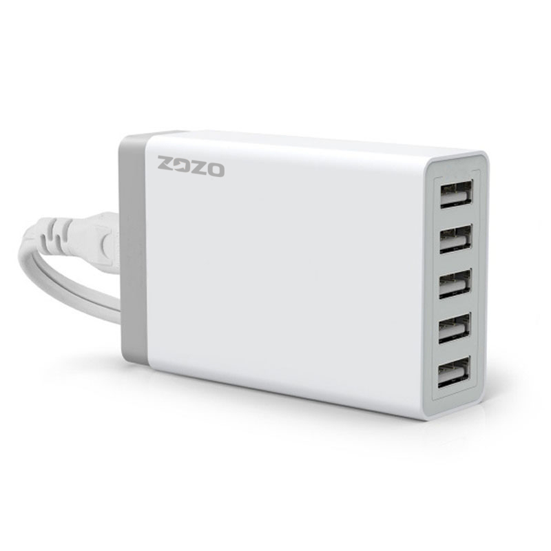 40W 5 Ports USB Home Charger Portable Travel Desktop Rapid Power Adapter (Intl)