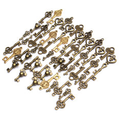 49 X Chic Retro Antique Gold Plated Bronze Mixed Keys Shape Pendant Findings Hot
