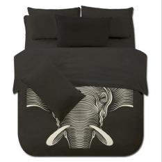 4pcs / Set New Creative Elephant Printing Bedding Set Children Kids Bedclothes Bedding Sets / Duvet Cover / Bed Sheet / Pillowcases Set (King Size)