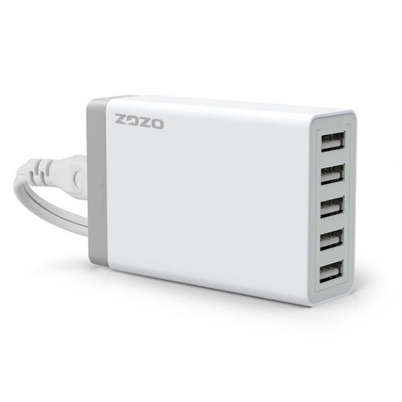 5 USB Port Smart Charging High Speed Desktop Charger White (Intl)