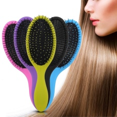 1Pc Detangling Wet & Dry Hairbrush Massage Comb Hairdressing Brush Hair Styling Tool (Purple) - intl