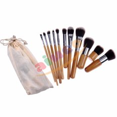 AIUEO Foundation Eyeshadow Eyeliner Lip Makeup Brushes and Applicators Cosmetic Tool Soft - 11 Pcs