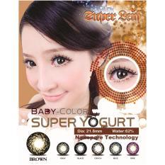 Cairan 60ml Minus 3 75 Baby Color Super Yogurt Softlens Brown Gratis Lenscase .