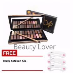 Beautylover 24 Warna Eyeshadow Pallete Warna Natural N4 Gratis Cetakan Alis