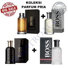 Big Sale Hugoo bos Bottle Oud Parfum EDT 100ml + Hgo Bos Sport Parfum EDT 100ml + Hugoo Boos The Scent Parfum EDP 100ml + Huggo Bost Botled Parfum EDT 100ml