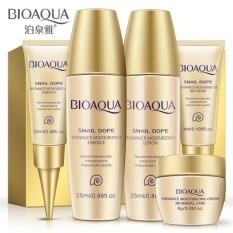 BIOAQUA 5pcs Face Care Cream Skin Care Set Travel Anti-Aging Whitening Moisturizing Wrinkle Lift Firming Snail Cream Natural Beauty - intl