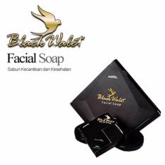 Black Walet Facial Soap BPOM CV Rajawali Emas - Sabun Pembersih Wajah Alami - Paket Isi 3 Pcs