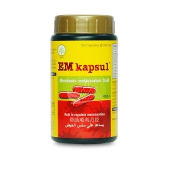 borobudur herbal em kapsul melancarkan haid 100 kapsul