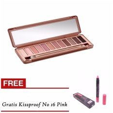 Bos Online N3 Pallete Eyeshadow Gratis KissProof No16 Pink 1 Pcs