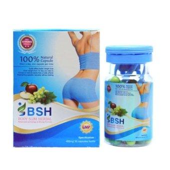 bsh capsul body slim herbal kapsul new pack lazada