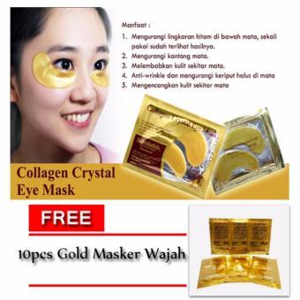 ... Collagen Crystal Eye Mask Masker Mata 10pcs Free 10pcs Gold Face Mask