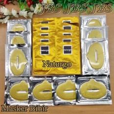 Collagen Lip Mask - Masker Bibir - 10 - Naturgo Masker Lumpur Untuk Wajah Isi 10 - 1 Paket