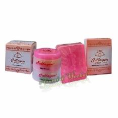 Cream Collagen siang dan malam plus sabun Collagen