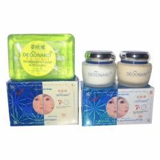 Deoonard Blue 7 Days - Paket Perawatan Wajah Jerawat Cream Siang Malam Sabun Wajah