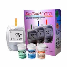 Easy Touch GCU 3in1 Meter Alat Cek Tes Kolesterol Asam Urat Gula Darah Lengkap Garansi | Grosir Nesco Autocheck