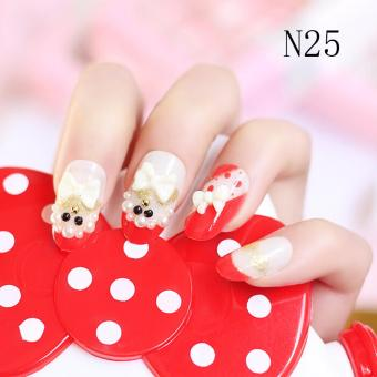 24 Buah French Nail Art Kuku Palsu Akrilik Tips Lengkap Berwarna Source · Fashion 24pcs 3D