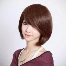 Gadis dengan rambut pendek halus Bob rambut palsu - International