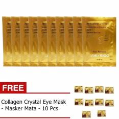 Gold Mask Masker Pengangkat Komedo - 10 Pcs + Gratis Collagen Crystal Eye Mask / Masker Mata - 10 Pcs