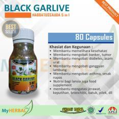 Habbatussauda Black Garlive 5in1 80 Kapsul Jinten Hitam Minyak Zaitun Propolis Madu .