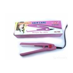 Haidi Catok Pelurus Pengeriting Rambut Mini Curly Hair Wanita Catokan Portable Kecil Praktis Ringan 110-220V - Pink