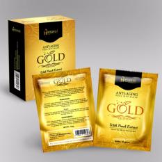 Hanasui Gold Masker Wajah Naturgo - 1 BOX isi (10 Sachet)