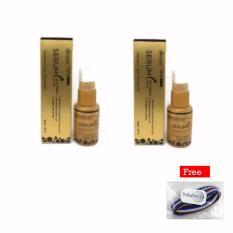 Hanasui Whitening Serum Gold 20ml - 2pcs + Free 1pcs Polkadope Ikat Rambut