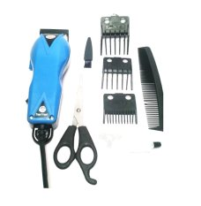 Happy King HK-900 Professional Hair Clipper Trimmer Mesin Alat Cukur - Biru Muda
