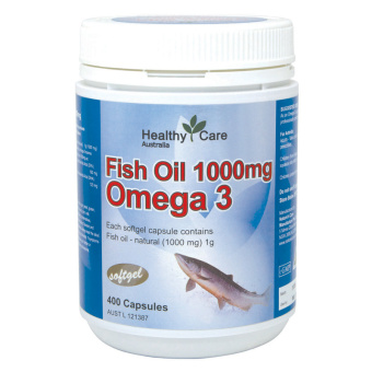 Healthy Care Omega 3 Fish Oil 1000mg 400 kapsul