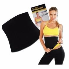 HOKI COD - Hot Shaper Korset Pelangsing Perut Sports Hot Shapers Neotex Slimming Tummy Body Belt - Size XL ALL Size - Hitam