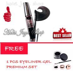 HOKI COD - Mascara Waterproof - Maskara Hitam - 1 Pcs FREE Eyeliner Gel Premium Set - 1 Pcs