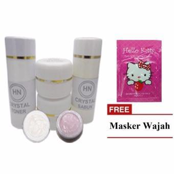 HN Crystal Cream Original 15gr + Masker Wajah Hello Kitty