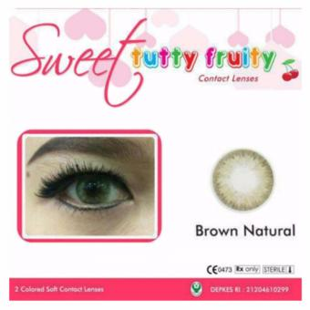 Harga Terbaru Sweet - Tutty Fruity Softlens - Brown Natural + Gratis Lenscase