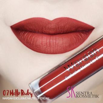 Wardah Exclusive Matte Lip Cream 07 - Hello Ruby. >>>>