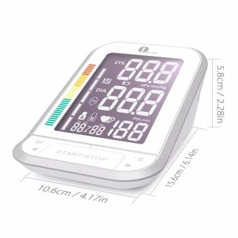 1byone Upper Arm Digital Blood Pressure Monitor Blood Pressure Cuff with Easy-to-Read Backlit LCD, Blood Pressure Machine One Size Fits All Cuff, Sphygmomanometer Nylon Storage Case, White - intl