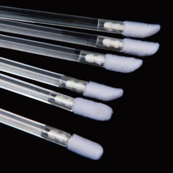 50pcs Disposable MakeUp Lip Brush Lipstick Gloss Wands Applicator Make Up Tool Clear - intl