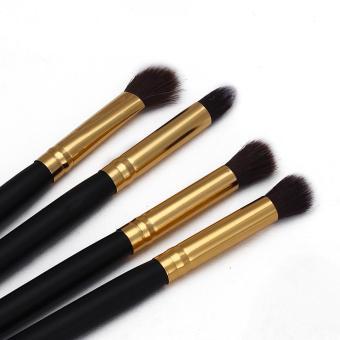4Pcs Makeup Cosmetic Tool Eyeshadow Powder Foundation Blending Brush Set - intl