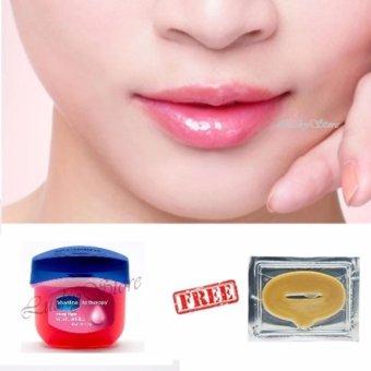 Vaseline Lip Therapy 7g Rosy Lips + Free Masker Bibir - Collagen Lip Mask. >>>>