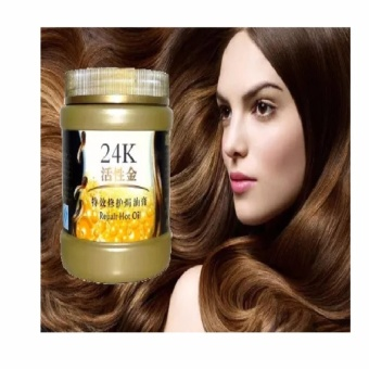 24K Active Gold Repair Hot Oil ~ Masker Rambut 24K Emas Aktif