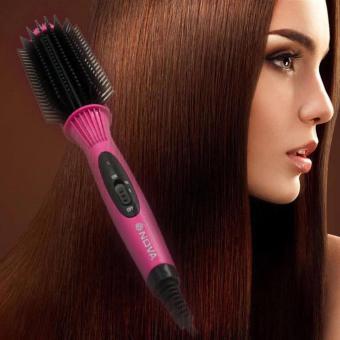 Emyli sisir rambut keriting NOVA Hair Straightener Pink .