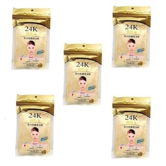 24K Masker Bubuk Emas Untuk wajah Gold - 5 Pcs