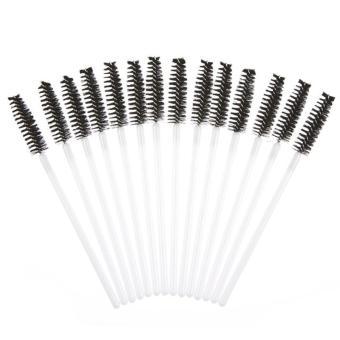 50pcs Disposble Eyelash Brush Mascara Wands Makeup Cosmetic Tool Black - intl