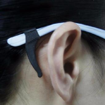 Ear Hook Anti Slip Gagang Kacamata Silicone - Hitam