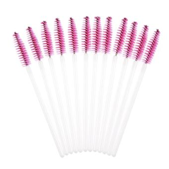 50pcs Disposble Eyelash Brush Mascara Wands Makeup Cosmetic Tool Hot Pink - intl